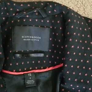 Scotch & Soda Navy Blazer with Red Stars